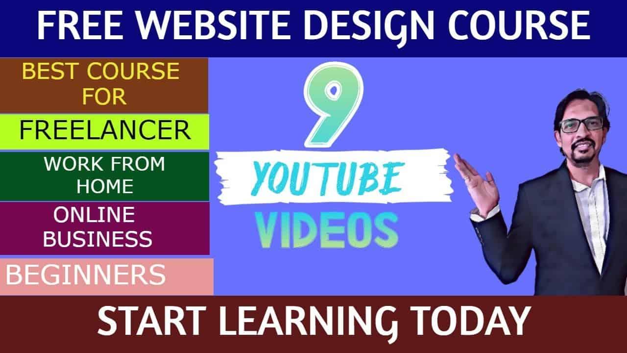 Best Free Web Design Course 2021 | Freelance web designer | Work From Home