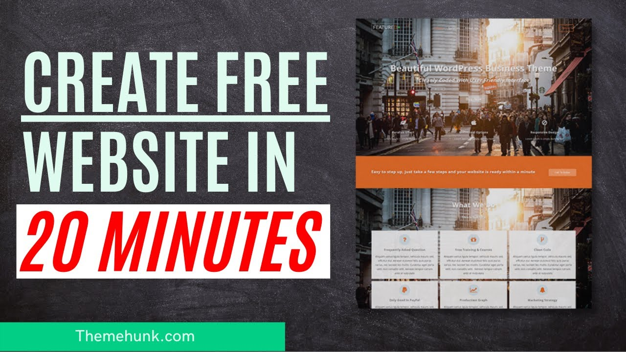 Create a free website in 20 minutes | How to create a free website.