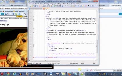 Do It Yourself – Tutorials – Create a webpage using HTML and CSS part 2