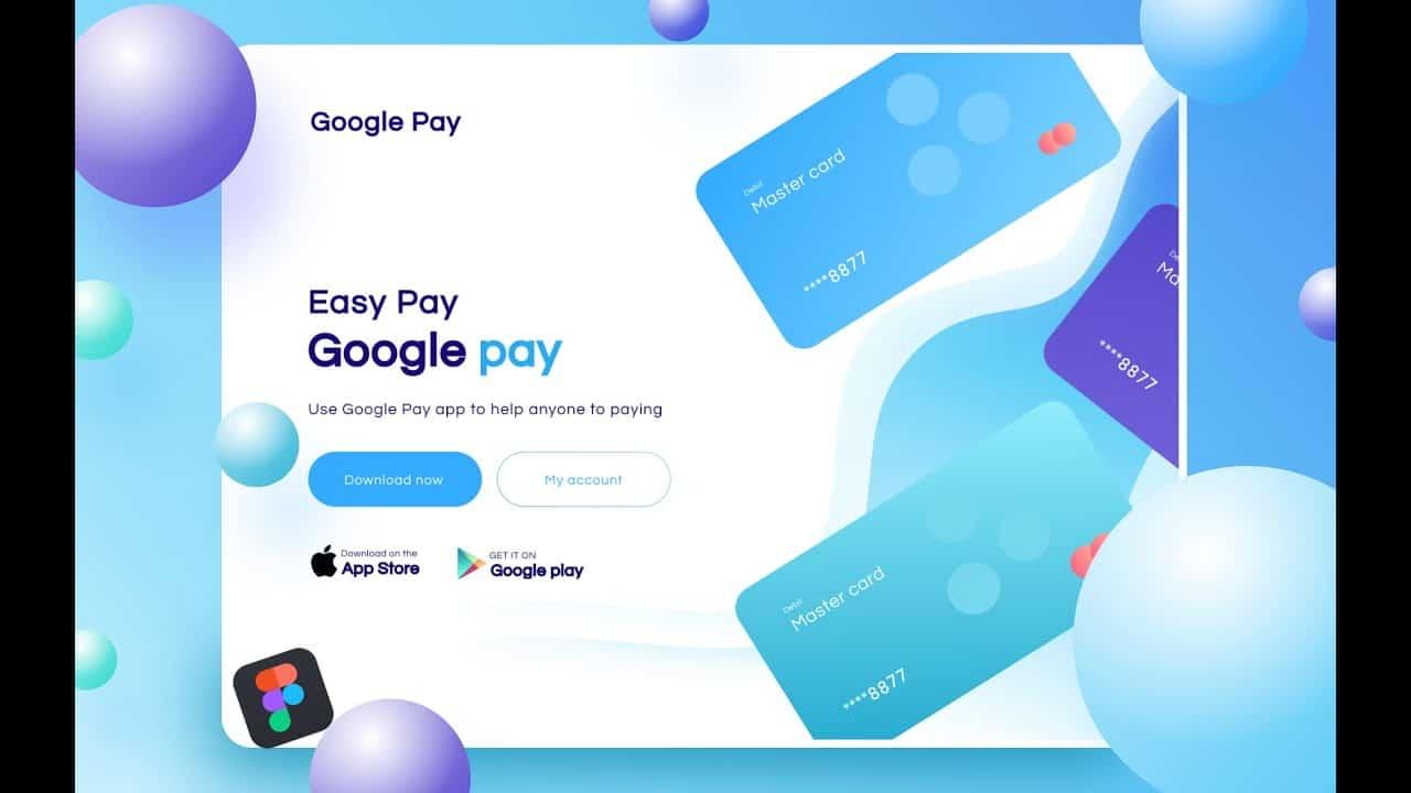 Creative Website Design (2021)  || Figma tutorial | Landing Page Design | Google Pay Design