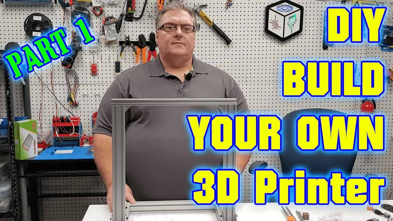DIY 3D Printer Build Your Own  - Part 1 The Frame (Step By Step Guide)