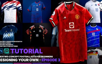 Do It Yourself – Tutorials – Designing Your Own Kit – How to Create Concept Football Kits – Ep. 3 | Photoshop/Photopea Tutorial