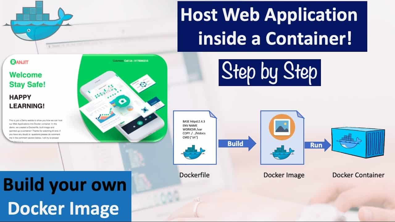 Dockerfile - Build your own Docker Image   Host web Application inside a container   Docker Tutorial