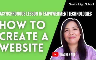 Do It Yourself – Tutorials – EMPOWERMENT TECHNOLOGIES   HOW TO CREATE A WEBSITE   TEACHER AIR