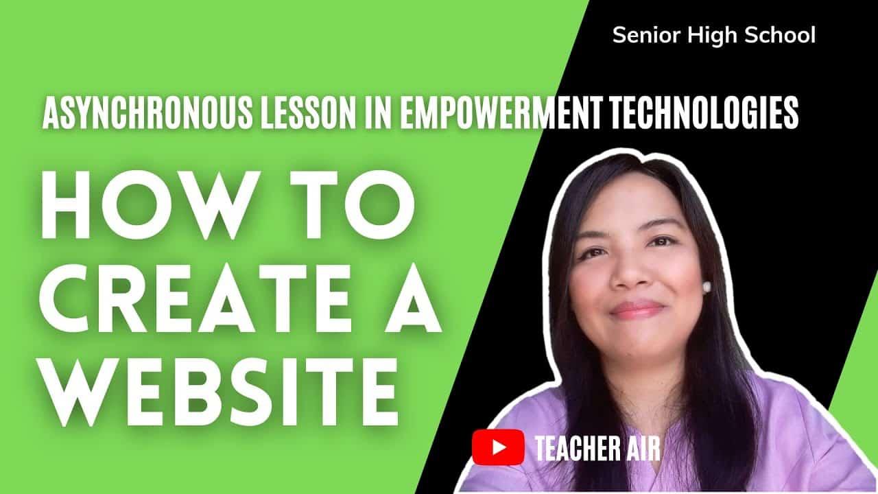 EMPOWERMENT TECHNOLOGIES | HOW TO CREATE A WEBSITE | TEACHER AIR