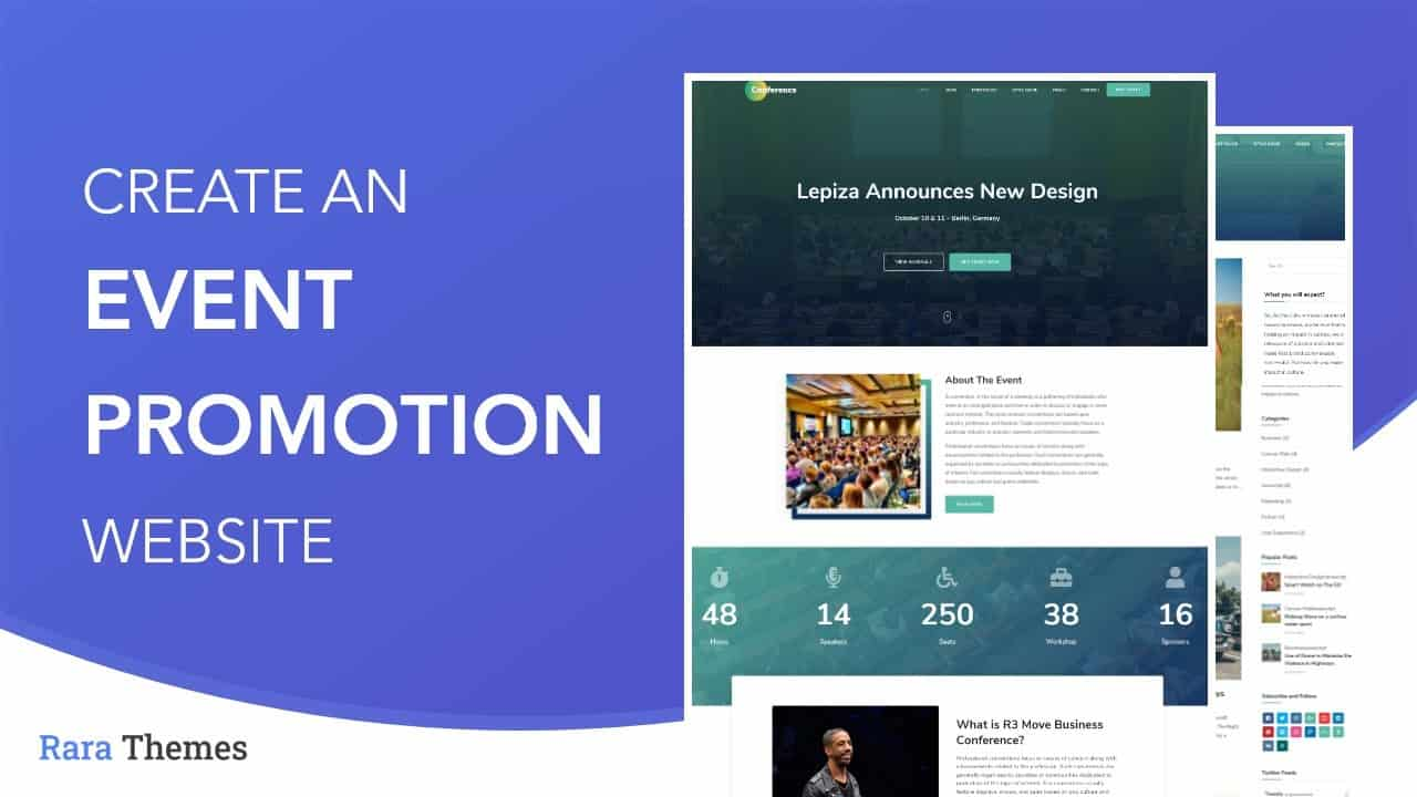 How To Create An Event/Promotion/Conference Website In 2021 | Conference Free WordPress Theme
