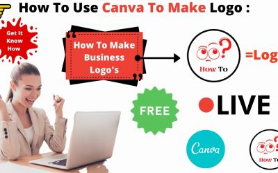 Do It Yourself – Tutorials – How to Create Logo In Canva | Make Your Own Logo With Canva | Canva Tutorial For BEGINNERS Free!