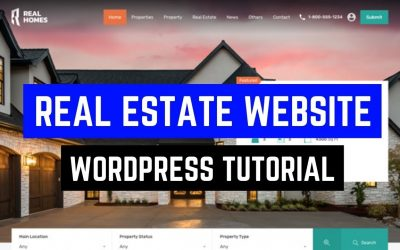 Do It Yourself – Tutorials – How to Create Real Estate Website using WordPress – Elementor Real Estate Website Tutorial