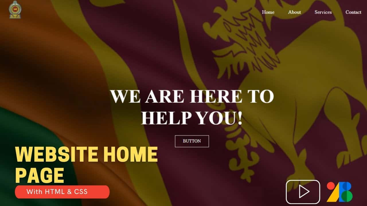 How to Create a Website Homepage Using HTML & CSS | #HTML | #CSS | #KeenEye
