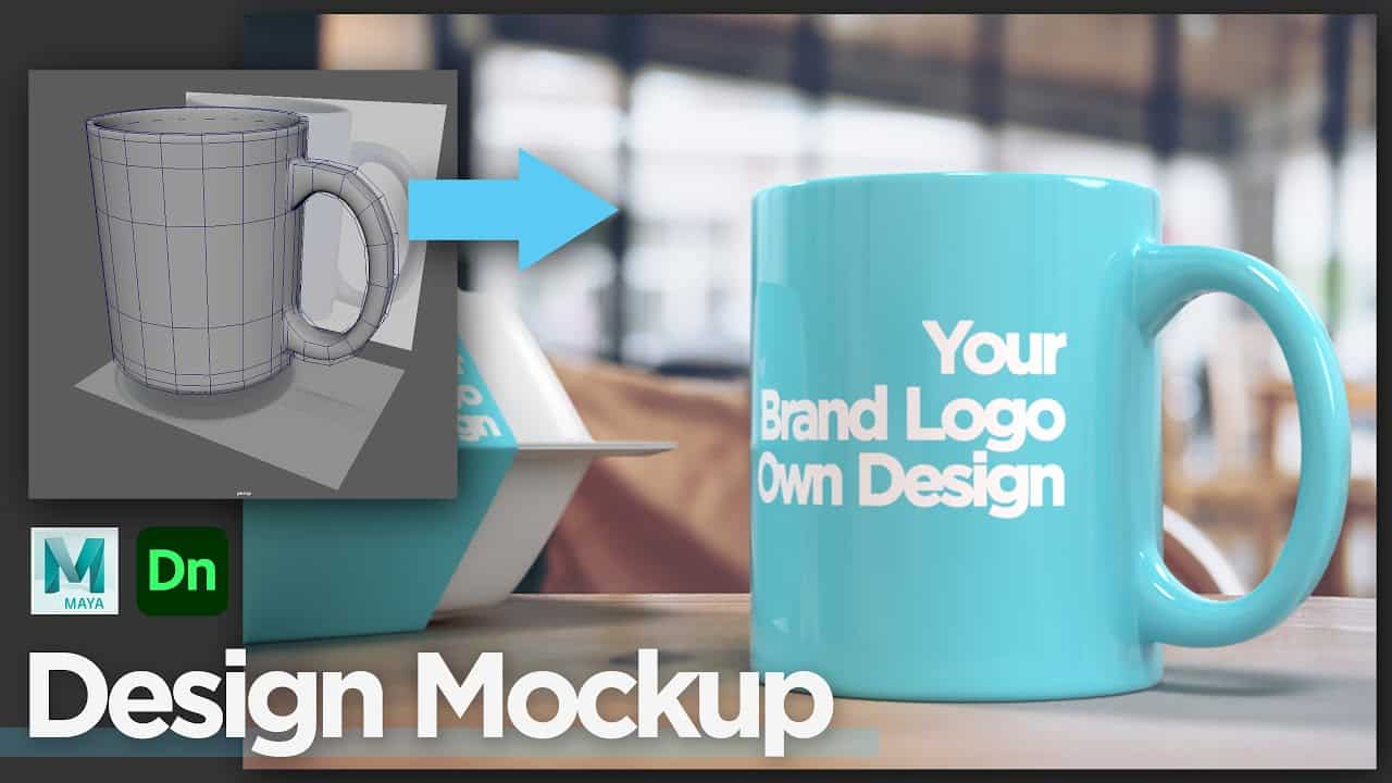How to make Design Mockup in Adobe Dimension, custom-made 3D model from 3D software, Autodesk Maya