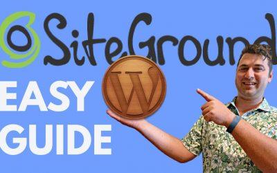 Do It Yourself – Tutorials – SiteGround WordPress Tutorial 2021 [How To Make a WordPress Website at SiteGround NEW!]
