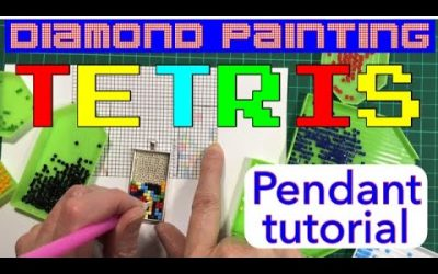 Do It Yourself – Tutorials – Tetris pendant diamond painting tutorial – make your own using spare leftover diamonds. Easy project