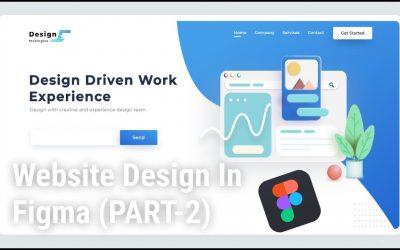 Do It Yourself – Tutorials – Website Landing Page Design In Figma (PART-2) ||  Figma Tutorial || Website Design