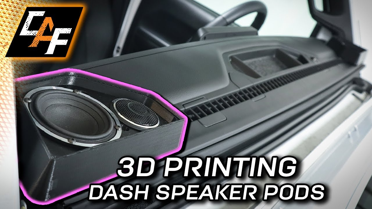 You challenged me! 3D Printing Dash Speaker Pods