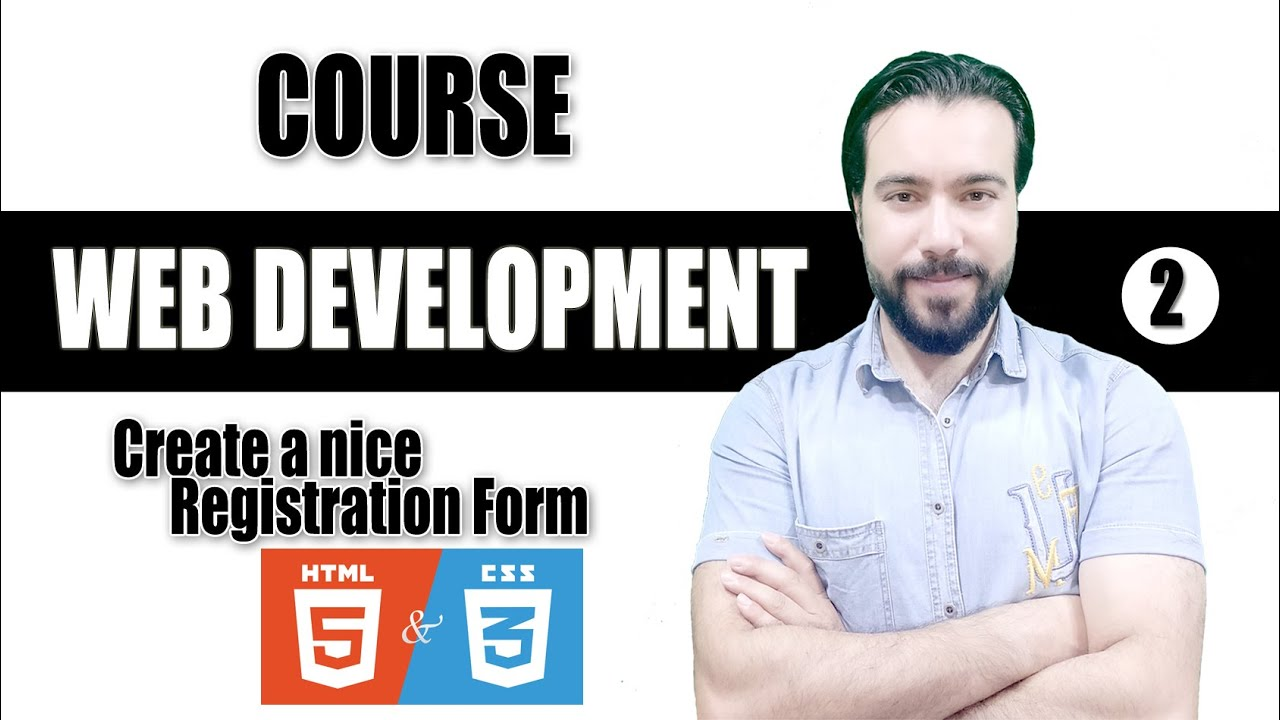 web development (web design), create a wonderful responsive Registration Form (html , css). tutorial