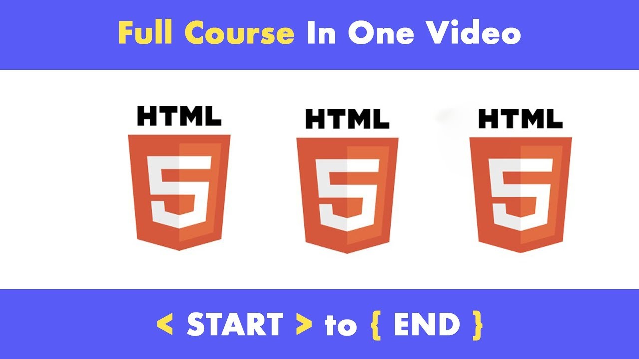 Complete HTML 5 Tutorial from scratch