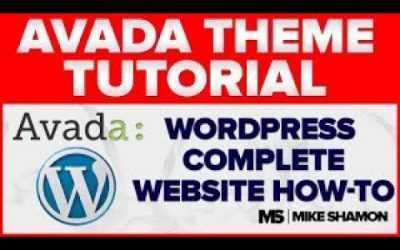 WordPress For Beginners – How to Make a Website With WordPress 2011 – Avada Theme Tutorial