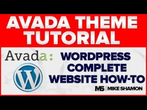 How to Make a Website With WordPress 2011 - Avada Theme Tutorial