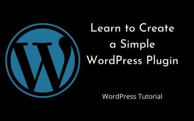 WordPress For Beginners – How to create WordPress Plugin   WordPress   Tutorial for Beginners   Tutorial – 5