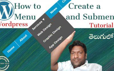 WordPress For Beginners – //How to create a menu in wordpress for your website/wordpress tutorial beginners//David Web Tech//