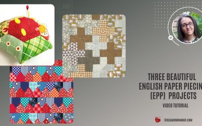 WordPress For Beginners – Three beautiful English Paper Piecing (EPP) projects – video tutorial