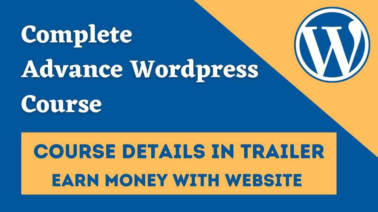 Wordpress Course Trailer   Az SoftwareHouse