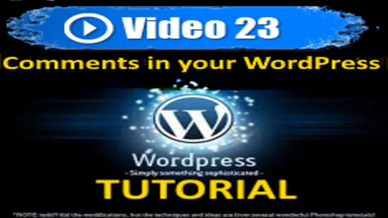 Wordpress Tutorial - Comments in your WordPress site - Mastering Wordpress in under 60 minutes