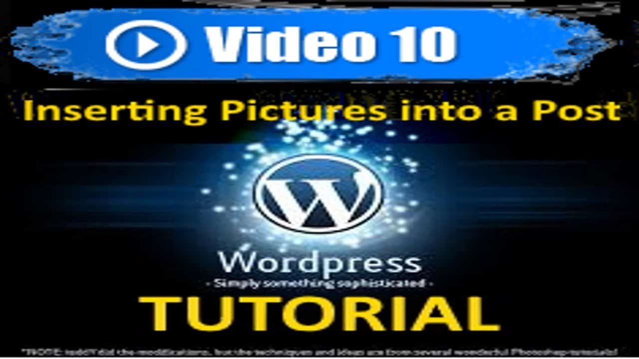 Wordpress Tutorial -  Inserting Pictures into a Post in WordPress - Mastering WP in under 60 minutes