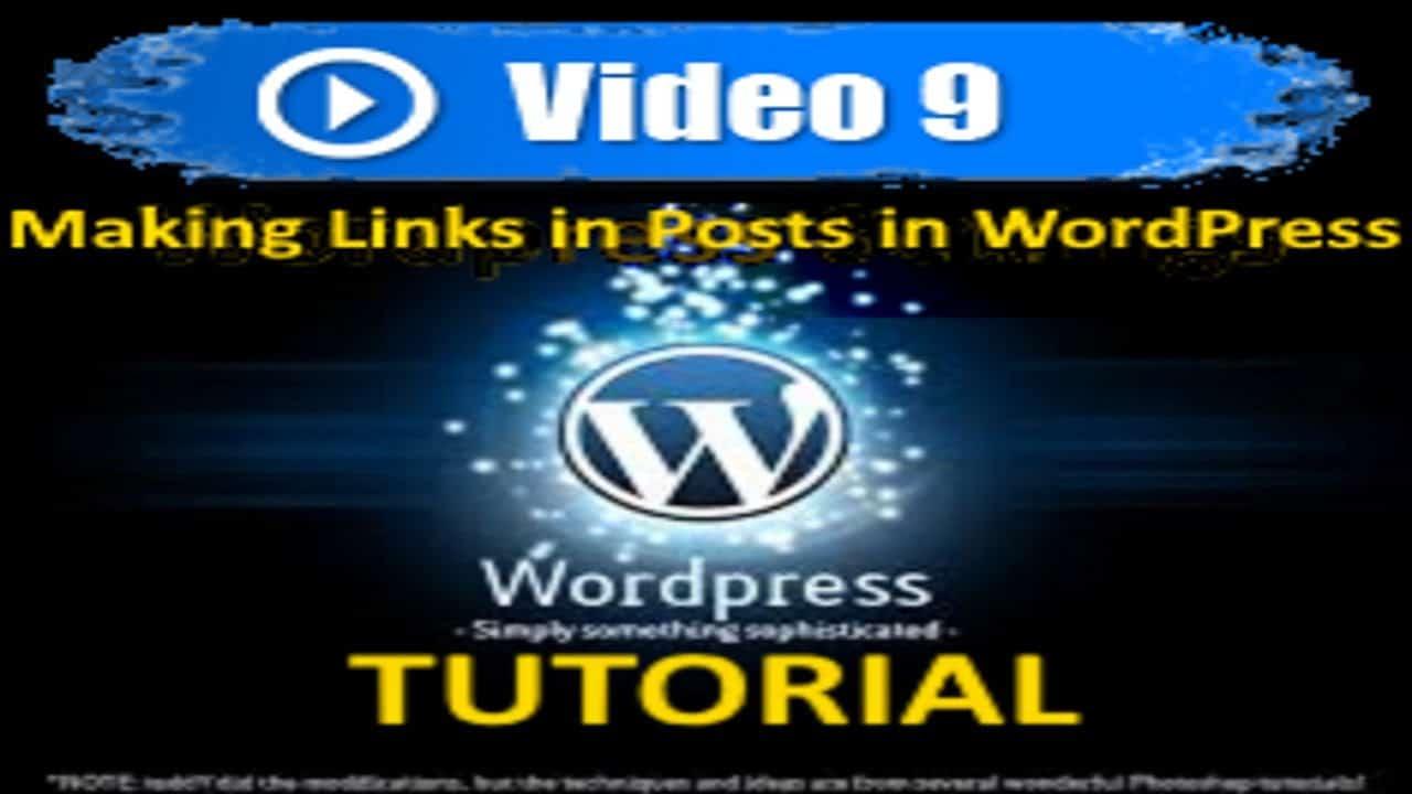 Wordpress Tutorial - Making Links in Posts in WordPress - Mastering Wordpress in under 60 minutes