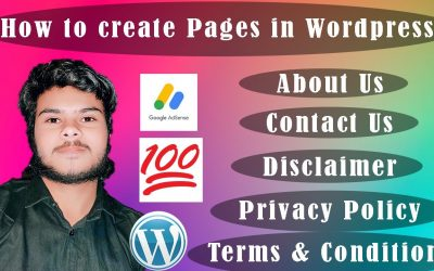 WordPress For Beginners – WordPress Tutorial for Beginners in Hindi : How to Create Important Pages for Adsense Approval  Pt 2