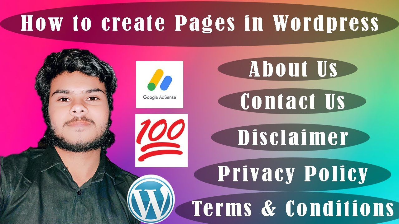Wordpress Tutorial for Beginners in Hindi : How to Create Important Pages for Adsense Approval  Pt 2