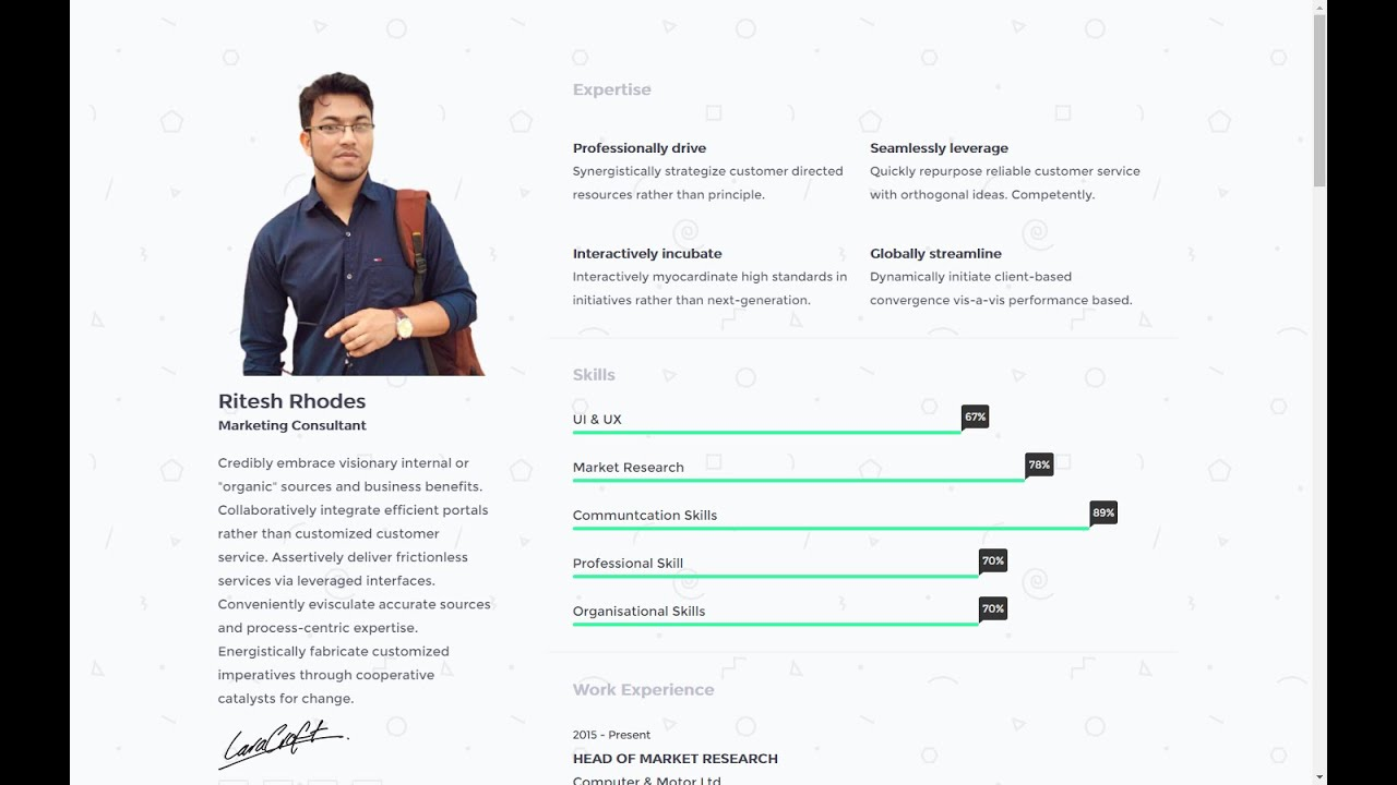 How To Make A Resume Website   HTML & CSS