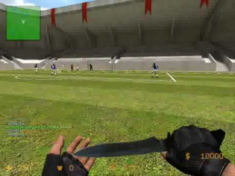Soccer mod | Counter Strike Source ~ CSS Soccer Gameplay..