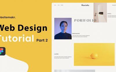 Do It Yourself – Tutorials – How to Design a Portfolio Website in Figma | Design Tutorial ( Part 2)