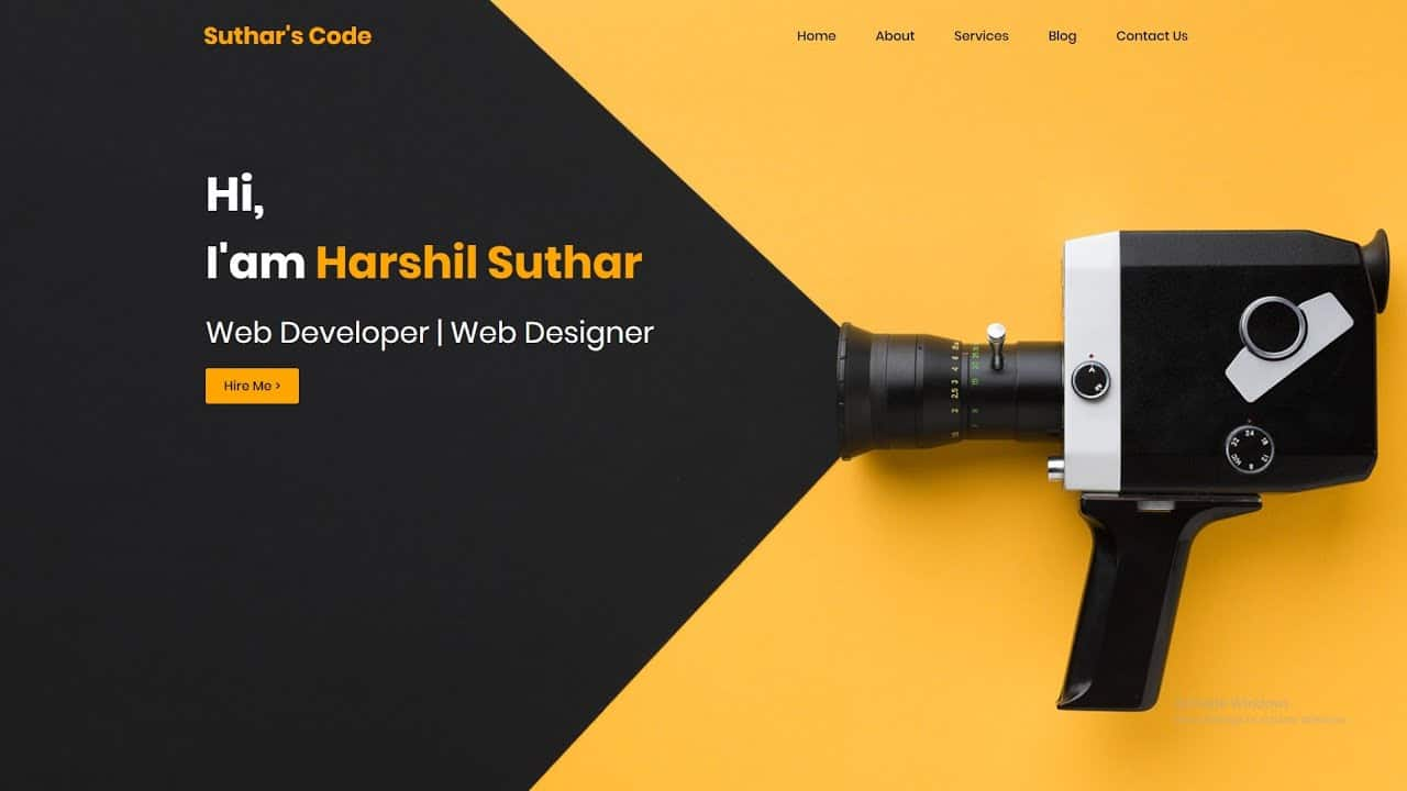 How to Make a website header page using html and css | 2021 | #html #css