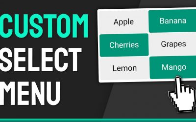Do It Yourself – Tutorials – How to Create a Custom Multi-Select (OR Single) Menu  – HTML, CSS & JavaScript Web Design Tutorial