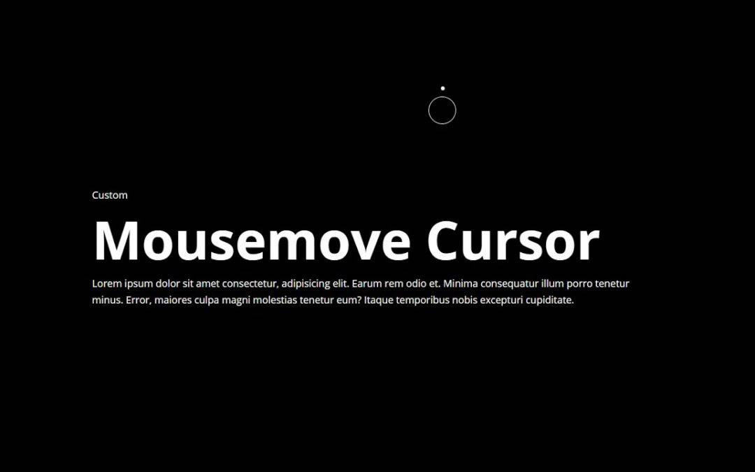 Custom Cursor Using CSS & Vanilla JavaScript
