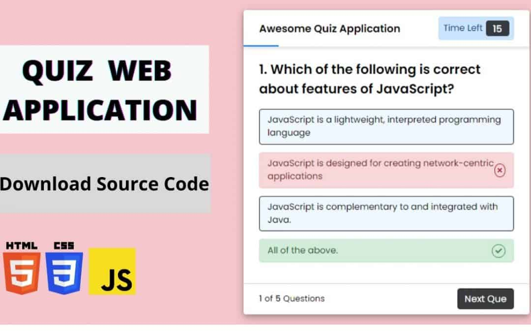 Create a Quiz App with Timer Using HTML CSS & JavaScript  || Quiz App Using JavaScript  || Last Part