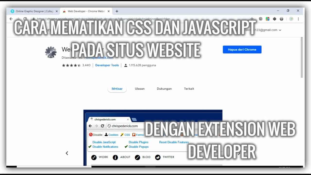 Cara Mematikan Css Javascript Dan Images Pada Sebuah Situs Website Dengan Mudah . . . .