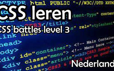 CSS leren   cssbattles nederlands #3