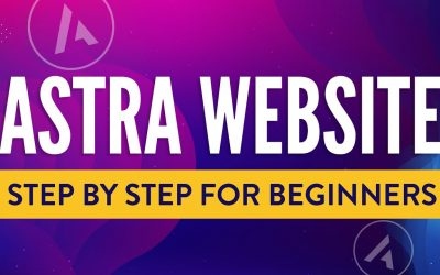 Do It Yourself – Tutorials – Astra Tutorial for Beginners | The Easiest Way to Make a WordPress Website