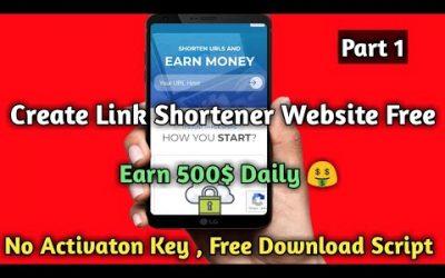 Do It Yourself – Tutorials – Create Own Link Shortener Website Free With Activation Hindi || URL Shortener Development Tutorial