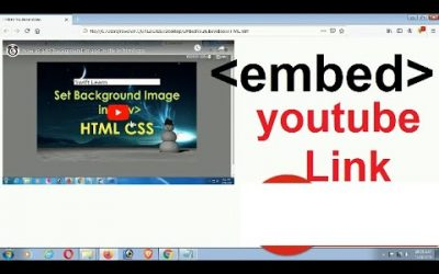 Do It Yourself – Tutorials – Embed Youtube Video in HTML | Embed Youtube Video in Website | embed tag | swift learn