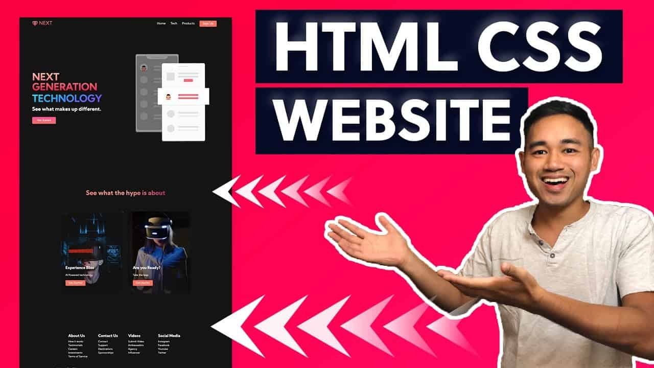 HTML CSS and Javascript Website Design Tutorial - Beginner Project Fully Responsive