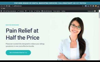 Do It Yourself – Tutorials – How to Create Dentist / Dental Clinic Website Using WordPress – Elementor Dentist Website Tutorial
