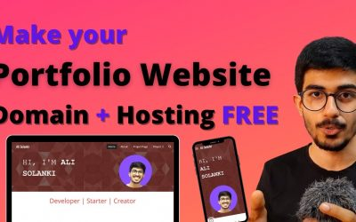 Do It Yourself – Tutorials – Make your Portfolio Website for FREE from scratch | DOMAIN & HOSTING Free by Ali Solanki