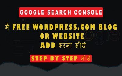 WordPress For Beginners – How Add Your WordPress.com Free blog or website to Google Search Console   Tutorial for beginners