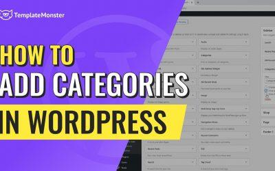 WordPress For Beginners – How To Add Categories In WordPress? Step-by-step WordPress tutorial
