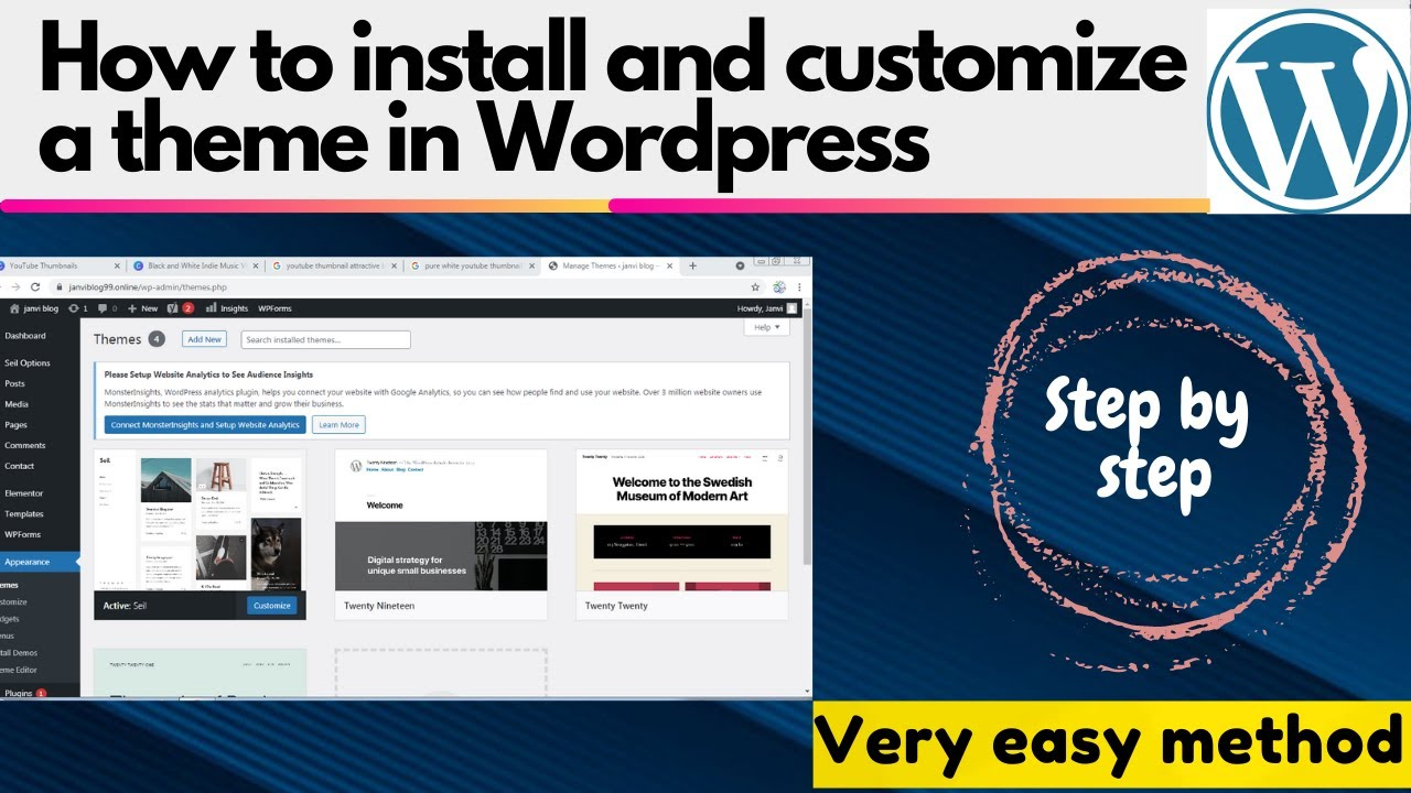 how to install and customize a theme in wordpress| Wordpress tutorial for beginer