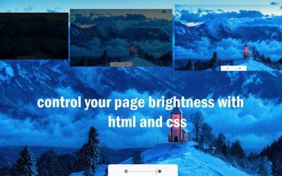 javascript brightness controler    custom brightness controler    HTML CSS JAVASCRIPT